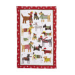 SNOW DOGS teatowel